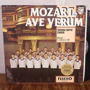 Vienna Garçons Chorale Mozart Ave Verum LP Philips Pays-Bas Importation M