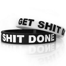 Silicone Rubber Wristbands Bracelet Bangle Inspirational Crossfit Sport Fitness