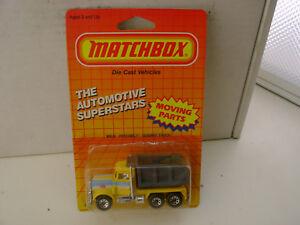 1987 MATCHBOX SUPERFAST MB30 PACE PETERBILT QUARRY DUMP TRUCK Nuovo Moc