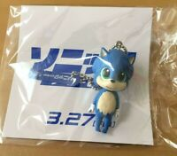 Baby SONIC THE HEDGEHOG key ring chain fob charm holder mini figure SEGA Movie
