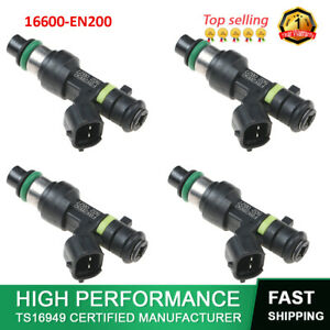 4X 16600-EN200 FBY2850 Fuel Injector For Nissan Cube Sentra Versa NV200 07-14