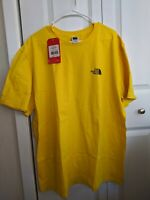 The North Face Men's Yellow Standard Fit Cotton T-Shirt Size XXL NWT