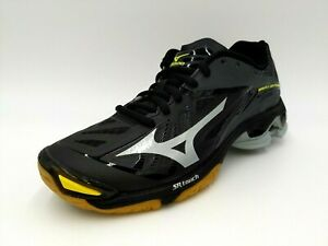 Mizuno Womens Wave Lightning Z2 Volleyball Shoes Black Silver Size 11