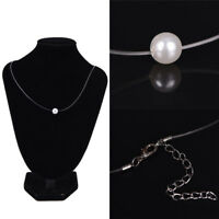 Acryl Perle Anhänger Halskette Choker Transparente Angelschnur Choker  XJ
