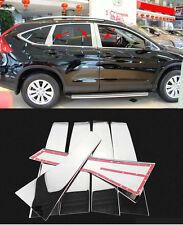Steel Window Pillars Cover Trim for 2012-2016 Honda CRV CR-V Chrome 6PCS Post B