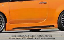 Rieger Seitenschweller schwarz matt für Fiat 500 (312): 10.07-