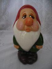 "Disney Sleepy 8"" tall Ceramic Figurine Snow White & 7 Dwarfs hand painted RARE"