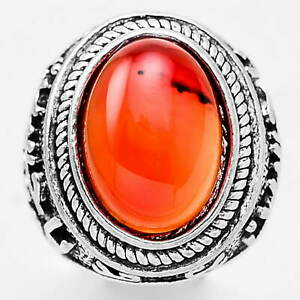 Carnelian 925 Sterling Silver Plated Handmade Ring Jewelry s.9 MR01116