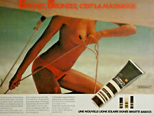 PUBLICITÉ DE PRESSE 1979 MADRAGUE LIGNE SOLAIRE SIGNÉ BRIGITTE BARDOT - SEINS NU