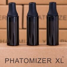3 x  Replacement Atomizer Straight Glass Pyrex Globes  - Murdered Out