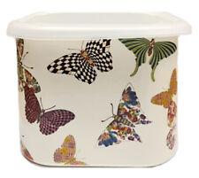 Mackenzie-Childs Butterfly Garden Lidded Enamel Squarage Bowl - New in box