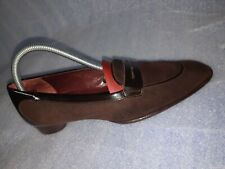 TOD's Brown Sued Leather Slip On Pumps, med heels, Women's Shoes Size US 8