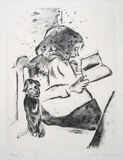 "MARC CHAGALL Hand Signed 1922 Original Etching/Drypoint - ""Die Grossmutter"""