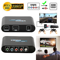 YPbPr to HDMI Converter RCA Component RGB to HDTV Adapter For DVD Projector US