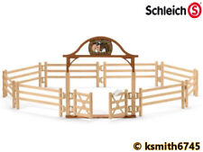 Schleich PADDOCK WITH GATE plastic toy animal containment fence * NEW 💥