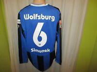 VfL Wolfsburg Nike Langarm Matchworn Meister Trikot 2008/09 Nr.6 Simunek Gr.L