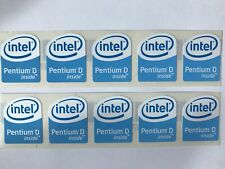 10 Intel Pentium D Inside Stickers 19 x 24mm approx Case Badge For PC Computer