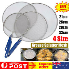 4Size Anti Splatter Guard Oil Net Splash Cover Pan Screen Kitchen Cooking Frying