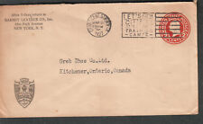 1927 advertising cover Barnet Leather Co Park Ave NY to Greb Shoe Kitchener ON