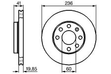 Bendix Front Vented Brake Disc - 236mm Diameter for Chevrolet Spark 2010-2015