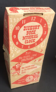 RARE! BOX ONLY for Vintage Hickory Dickory Dock Musical Clock Mattel Tin