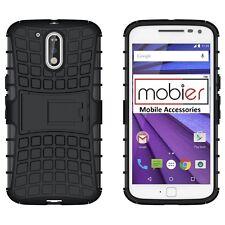 For Moto G4 Plus (4th Gen) BLK Mobier Shockproof Back Case KickStand Cover