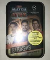 2019-20 TOPPS UK MATCH ATTAX UEFA CHAMPIONS LEAGUE SOCCER 60 CARDS STRIKERS TIN