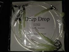 1 Deep Drop Tilefish Fishing Rig 400# Leader 3 Mustad Hooks Angelfish Grouper