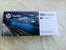 Original HP tinta 981y Black l0r16a pagewide 556 586 e58650 nuevo 2022 343,5ml