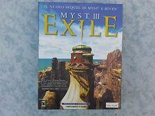 MYST 3 III EXILE - AVVENTURA GRAFICA per PC - BIG BOX - ITALIANO COMPLETO