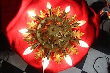 Deckenlampe 9 Brennstellen floral florentiner 60/70er Jahre Chabby Chic 2