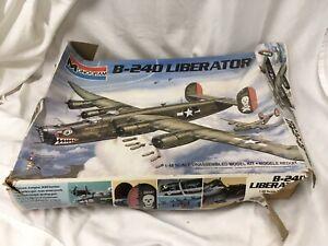Vintage 1983 Monogram B-24D Liberator Moby Dick Model Airplane Kit W/Box
