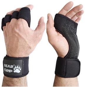 BEAR GRIP - Open Workout Gloves for Crossfit, Bodybuilding, Callisthenics