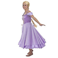 Adult Women's Tangled Rapunzel Tower Maiden Halloween Costume Purple Dress S M L