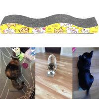 Cat Corrugated Cardboard Scratcher Board Bed kitten Scratching Catnip toy Hot
