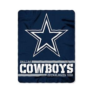 Dallas Cowboys Licensed Fleece Throw Blanket Football Split 50'' X 60''