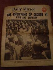 Vintage Daily Mirror Newspaper Crowning King George VI May 13th 1937 Royal