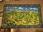 """Vintage Great Wall of China wall hanging tapestry Chinese 35"""" x 59"""""""