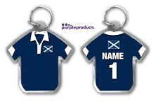 Personalised SCOTLAND Rugby Team Supporters Jersey Shirt Keyring