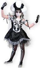 Zombie Novia Disfraz para Niños Bruja Esqueleto Niñas Carnaval Talla 116 128%