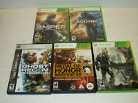 Lot of 5 shooters Crysis2, Sniper & more  For Xbox360 in Very Good Condition