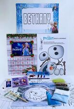 A FROZEN 2 SAND ART KIT PERSONALISED WITH ACTIVITY SHEETS POM POM & OLAF TO MAKE