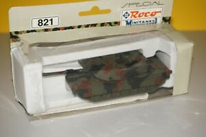 RF8/B2/18] Roco Mini Tank 821 Fight Abrams Camouflaged 1/87 Boxed