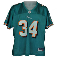 NFL Reebok Florida Miami Dolphins Ricky Williams Authentic Jersey Teal Nylon
