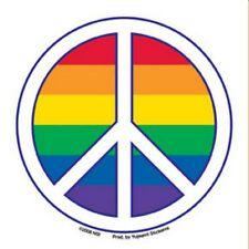 Gay Pride Bumper Sticker Peace Symbol