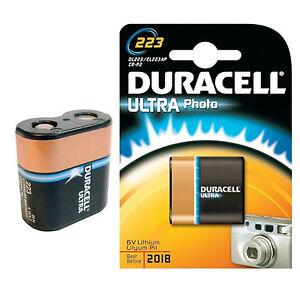 1 Stück DURACELL 223 BATTERIE ULTRA  - DL223 /  CR-P2  /  EL223AP - FOTOBATTERIE