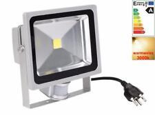 Scheinwerfer 30W Fluter Bewegungsmelder 0.8M kable + CH Stecker Warmweiss LED 30