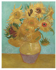 FLORAL ART PRINT Vase with Twelve Sunflowers, 1889 Vincent van Gogh Poster 11x14