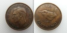 Nice Collectable 1938 King George VI Farthing Lot 3 Bare Head
