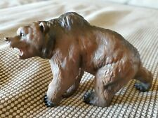 """Grizzly Bear Animal Action Figure  Papo PVC Plastic Life Like Toy  6"""" #1904"""